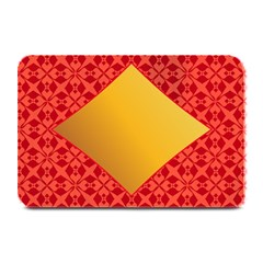 Christmas Card Pattern Background Plate Mats by Celenk