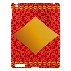 Christmas Card Pattern Background Apple Ipad 3/4 Hardshell Case by Celenk