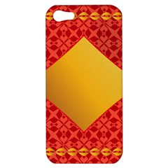 Christmas Card Pattern Background Apple Iphone 5 Hardshell Case by Celenk