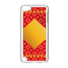 Christmas Card Pattern Background Apple Ipod Touch 5 Case (white)