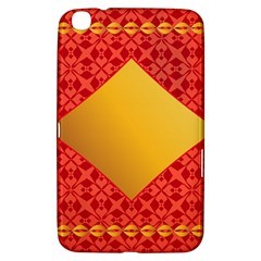 Christmas Card Pattern Background Samsung Galaxy Tab 3 (8 ) T3100 Hardshell Case  by Celenk