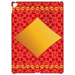 Christmas Card Pattern Background Apple Ipad Pro 12 9   Hardshell Case by Celenk