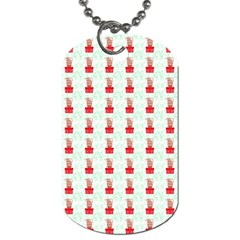 At On Christmas Present Background Dog Tag (one Side)