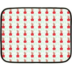 At On Christmas Present Background Double Sided Fleece Blanket (mini)  by Celenk