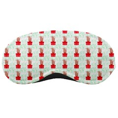 At On Christmas Present Background Sleeping Masks