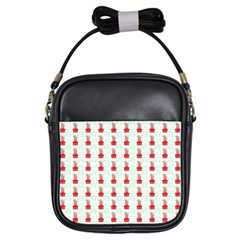 At On Christmas Present Background Girls Sling Bags by Celenk