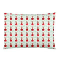 At On Christmas Present Background Pillow Case (two Sides)