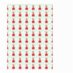 At On Christmas Present Background Small Garden Flag (two Sides) by Celenk