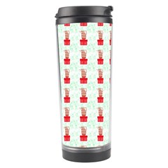 At On Christmas Present Background Travel Tumbler by Celenk