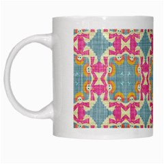 Christmas Wallpaper White Mugs by Celenk