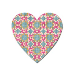 Christmas Wallpaper Heart Magnet by Celenk