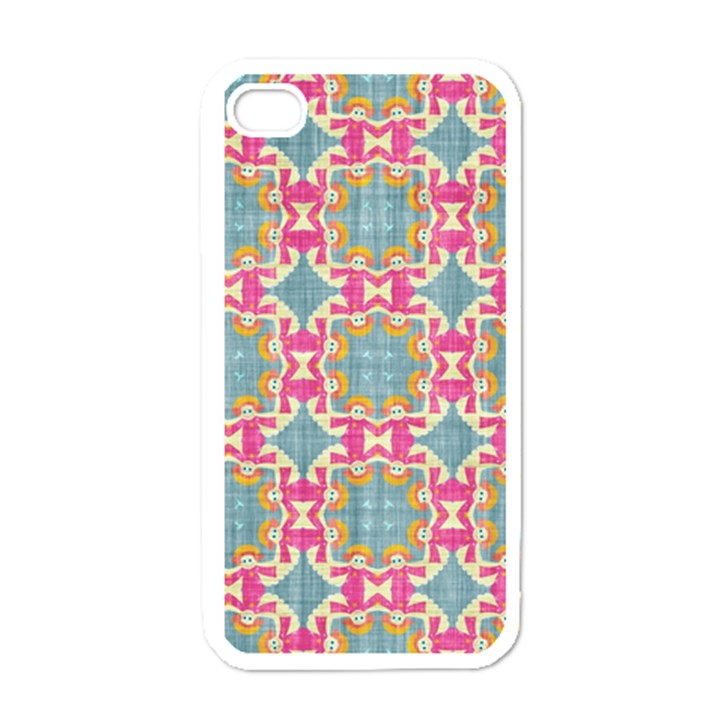 Christmas Wallpaper Apple iPhone 4 Case (White)