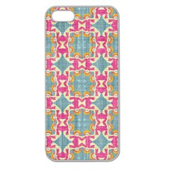 Christmas Wallpaper Apple Seamless Iphone 5 Case (clear) by Celenk