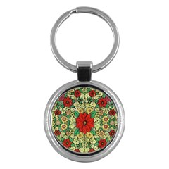 Calsidyrose Groovy Christmas Key Chains (round)