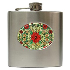 Calsidyrose Groovy Christmas Hip Flask (6 Oz) by Celenk