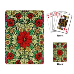 Calsidyrose Groovy Christmas Playing Card by Celenk