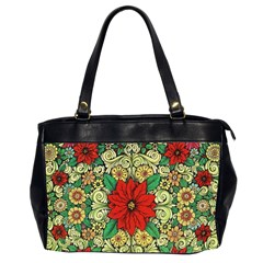 Calsidyrose Groovy Christmas Office Handbags (2 Sides)  by Celenk