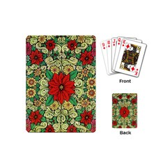 Calsidyrose Groovy Christmas Playing Cards (mini)  by Celenk