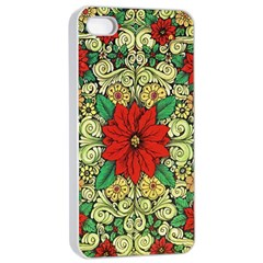 Calsidyrose Groovy Christmas Apple Iphone 4/4s Seamless Case (white) by Celenk