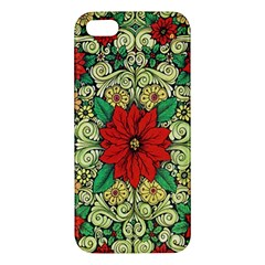 Calsidyrose Groovy Christmas Apple Iphone 5 Premium Hardshell Case by Celenk