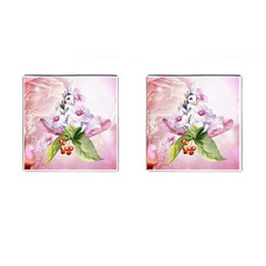 Wonderful Flowers, Soft Colors, Watercolor Cufflinks (square) by FantasyWorld7