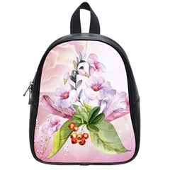 Wonderful Flowers, Soft Colors, Watercolor School Bag (small) by FantasyWorld7