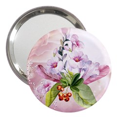 Wonderful Flowers, Soft Colors, Watercolor 3  Handbag Mirrors by FantasyWorld7