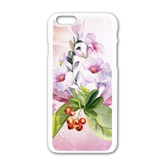 Wonderful Flowers, Soft Colors, Watercolor Apple Iphone 6/6s White Enamel Case by FantasyWorld7