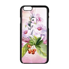 Wonderful Flowers, Soft Colors, Watercolor Apple Iphone 6/6s Black Enamel Case by FantasyWorld7