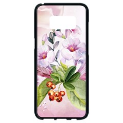 Wonderful Flowers, Soft Colors, Watercolor Samsung Galaxy S8 Black Seamless Case by FantasyWorld7