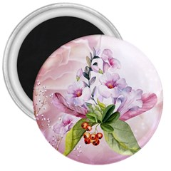 Wonderful Flowers, Soft Colors, Watercolor 3  Magnets by FantasyWorld7