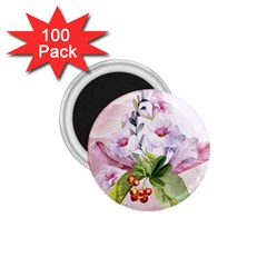 Wonderful Flowers, Soft Colors, Watercolor 1 75  Magnets (100 Pack)  by FantasyWorld7