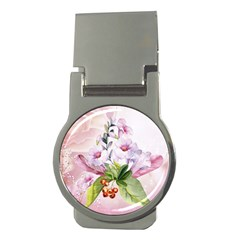 Wonderful Flowers, Soft Colors, Watercolor Money Clips (round)  by FantasyWorld7