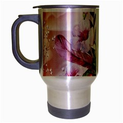 Wonderful Flowers, Soft Colors, Watercolor Travel Mug (silver Gray) by FantasyWorld7