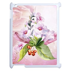 Wonderful Flowers, Soft Colors, Watercolor Apple Ipad 2 Case (white) by FantasyWorld7