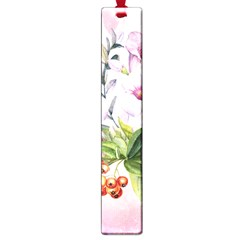 Wonderful Flowers, Soft Colors, Watercolor Large Book Marks by FantasyWorld7