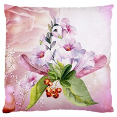 Wonderful Flowers, Soft Colors, Watercolor Standard Flano Cushion Case (one Side) by FantasyWorld7
