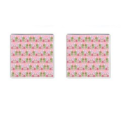 Floral Pattern Cufflinks (square) by SuperPatterns