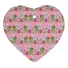 Floral Pattern Heart Ornament (two Sides) by SuperPatterns