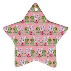 Floral Pattern Star Ornament (two Sides) by SuperPatterns