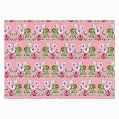 Floral Pattern Large Glasses Cloth (2 Side) by SuperPatterns