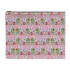 Floral Pattern Cosmetic Bag (xl) by SuperPatterns