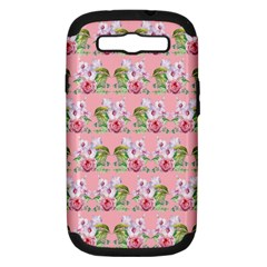 Floral Pattern Samsung Galaxy S Iii Hardshell Case (pc+silicone) by SuperPatterns
