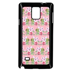 Floral Pattern Samsung Galaxy Note 4 Case (black) by SuperPatterns