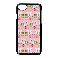 Floral Pattern Apple Iphone 7 Seamless Case (black) by SuperPatterns
