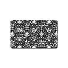 Star Crystal Black White 1 And 2 Magnet (name Card) by Cveti