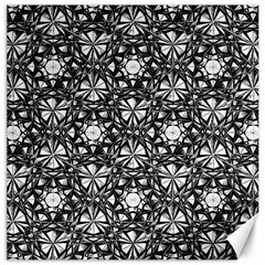 Star Crystal Black White 1 And 2 Canvas 12  X 12   by Cveti