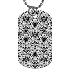 Star Crystal Black White 1 And 2 Dog Tag (one Side) by Cveti