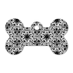 Star Crystal Black White 1 And 2 Dog Tag Bone (two Sides) by Cveti