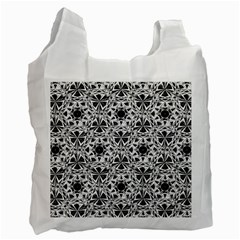 Star Crystal Black White 1 And 2 Recycle Bag (two Side)  by Cveti